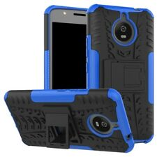 Carcasa híbrida 2 piezas Exterior Azul Funda para Motorola Moto E4 PLUS COVER