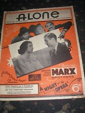 SHEET MUSIC-ALONE MARX BROTHERS NIGHT AT THE OPERA 1935 4 PAGES