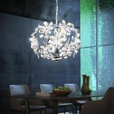 Kinder Zimmer Lampe Floral Hänge Leuchte Blüte Weiß Wohnzimmer Living-XXL