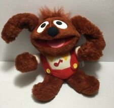 "Vtg Muppet Babbies Rowlf Plush 1985 Hasbro Softies 9"" Stuffed Dog Jim Henson"