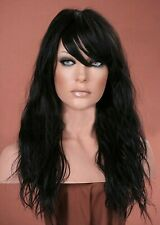 Forever Young Natural Black Beach Waves Long Wavy Wig UK Fashion Wigs