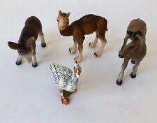 Schleich Donkey Foal 13268 Camel Foal 14356 Hanoverian Foal 13277 Bullyland Bird