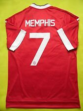 5+/5 MANCHESTER UNITED #7 MEMPHIS 2015-2016 FOOTBALL ADIDAS HOME JERSEY SHIRT