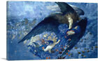 Night with her Train of Stars 1912 Canvas Art Print by Edward Robert Hughes