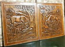 Decorative art deco weathered carving panel Antique french architectural salvage