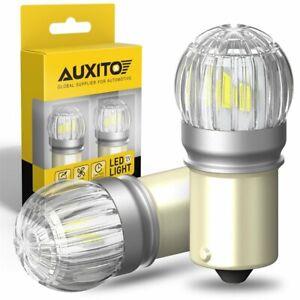 AUXITO 1156 BA15S LED Reverse Backup Parking Light DRL Bulb 6000K White 2US6T