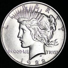 UNCIRCULATED 1922-D PEACE SILVER DOLLAR Free Shipping