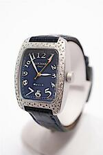 Auth Ladies LOCMAN Diamond Bezel+Aluminum+Black Face+Alligator Strap+Ora Strap