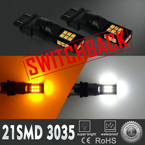 3057NA Two Colors Switchback White Parking Light Bulb|Yellow Turn Signal,Dual