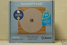 NEW - SOUNDFREAQ Sound Spot Bluetooth Wireless Speaker - SFQ-07WW - Wood & White