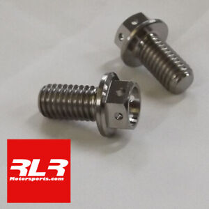 M8x15mm  TITANIUM RACE BOLTS 1.25 Pitch (DRILLED FOR LOCKWIRE) 1.25 pitch