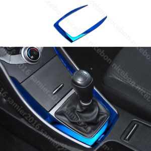 for HYUNDAI Elantra 2011-2016 blue stainless Gearshift Outer Panel Cover trim