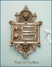 Klingel 2 Messing Türklingel Klingelschild Klingelplatte Brass Door Bell K30A