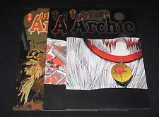 Afterlife With Archie - Lot of 3 comics: #1 Variant, #3 Variant and #3 Regular