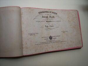 G. Verdi GIOVANNA D'ARCO - G. Meyerbeer LE PROPHETE, spartito pianoforte 1850 ca