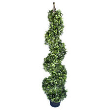 Artificial Boxwood Spiral Topiary Tree, 48-Inch