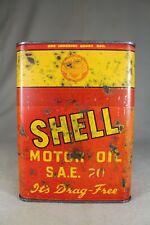 Vintage SHELL (Australia) Drag Free SAE 20 Oil - One Quart Tin