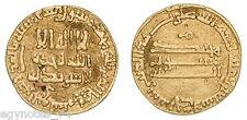 ISLAMIC GOLD ABBASID AV DINAR HARUN AL-RASHID 171 AH ( FER.MO ) CITING MIM ,RARE