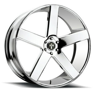 "Dub S115 Baller 26x10 6x5.5"" +20mm Chrome Wheel Rim 26"" Inch"