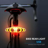 LED per indicatore direzione Luce posteriore per bici Telecomando senza fili USB