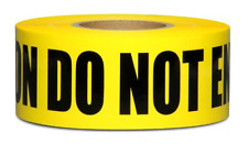 Yellow Caution Do Not Enter Barricade Tape 3 X 1000 • Bright Yellow with a