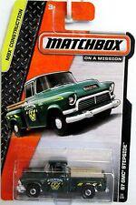 Matchbox '57 GMC Pick up step side UTE car Long Card #38 Green MBX Construction