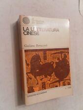 LA LETTERATURA CINESE - GIULIANO BERTUCCIOLI - SANSONI 1968