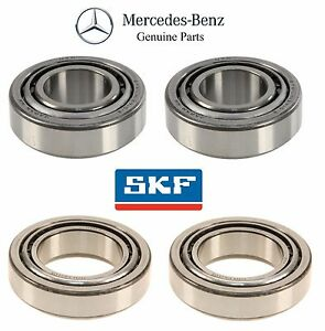 For Mercedes W215 S350 CL500 Kit of 2 Front Inner & 2 Front Outer Wheel Bearings