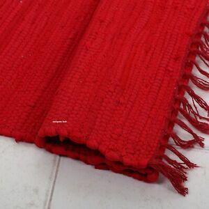 Rug 100% Natural Cotton 2x3 Feet Hand woven Area Rug Door Mat Carpet Yoga Rug