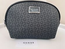GUESS USA JUNCTION TRAVEL COSMETIC, MAKE UP BAG ~ CHARCOAL (GREY) BNWT