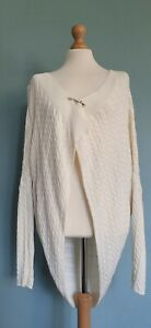 Nicole Farhi Cream Cotton Cable Knit Cardigan / Wrap Size  Medium