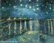 Vincent van Gogh. Starry Night (La nuit etoilee) 1888. Original Art Print..
