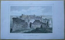 1848 print MALTA: GENERAL VIEW OF TOWER OF GIANTS, ISLAND OF GOZO (#28)