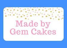40 PERSONALISED CUTE PINK & GOLD GLOSS STICKERS FOR CRAFTS AND SMALL BUSINESSES