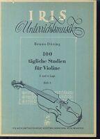 Bruno Döring - 100 tägliche Studien für Violine in der 2. und 4. Lage - Heft 3