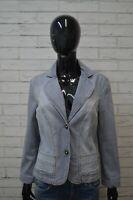 Giacca MARELLA SPORT Taglia L Cappotto Jacket Jeans Donna Giubbotto Elastica Blu