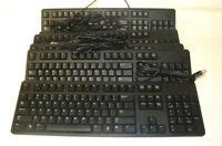 Lot of 6 Used Dell L30U 104-Key Quiet Slimline Black USB Keyboard