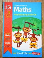 Educational activity book Children 3 4 years old Numbers Maths Counting Numeracy