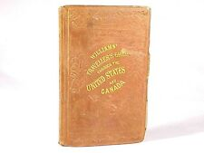 1855 Williams' Traveller'S Guide Pocket Map - U.S. Canada, Cuba With Color Map