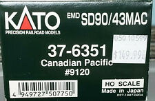 Kato #37-6351 - Ho Scale - Canadian Pacific Sd90/43Mac Road #9120 - Dcc Ready