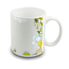 Custom Printed Photo Mug with Awesome Flower Frame