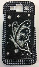 Diamond Bling Black Silver Butterfly Case Cover fits Samsung Galaxy S3 i9300