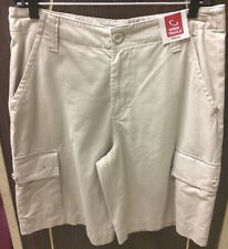 """OPEN TRAILS Mens Size 30 W Sand Color Brushed Cotton Cargo Shorts w/10"""" In seam"""