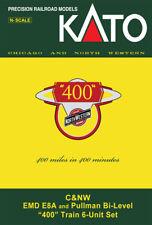 """KATO 106-104 N C&NW """"400"""" 6 PC BOOKCASE SET (DC)"""