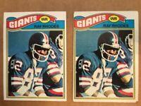 1977 Topps Ray Rhodes #98 RC VG/OC NEW YORK GIANTS (2) card lot