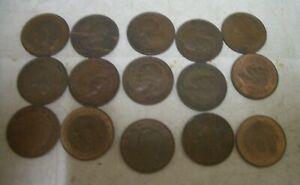 Coins UK Farthings 1918 - 1956  (15 in total) ; 4 Charity