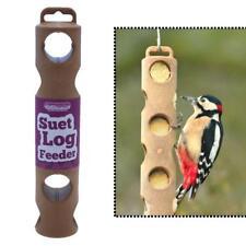 Suet to Go SUET LOG FEEDER Wild Bird Roll Feeding Holder Garden Tree Hanger