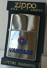 Zippo lighter VANTAGE Cigarettes RJR 1997 New In Box Limited Edition Chrome RARE