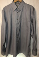 Canali Long Sleeve Button Up Houndstooth Shirt Mens XL Black White