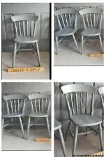 Brand new Solid Beech Spindle back Chair Painted in Farrow & Ball Down Pipe